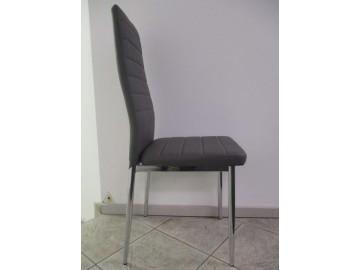Jídelní čalouněná židle HRON-261 zelená/chróm