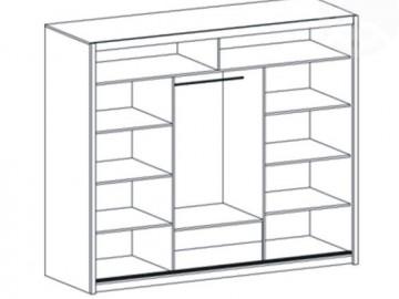 Šatní skříň VISTA 250 dub sonoma