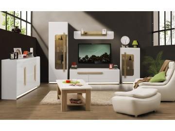 Obývací stěna LENA bílá/nebraska