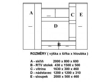Obývací stěna VITORE