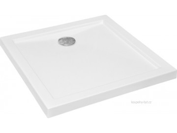 Čtvercový sprchový kout MOTRIL 90x90 cm (chromovaný rám, sklo frost, s akrylátovou vaničkou)
