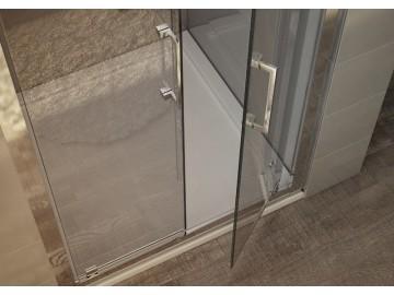 Sprchové dveře CLEO 76-84 cm bílý rám čiré sklo