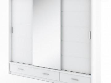Šatní skříň ARTI bílá zrcadlo