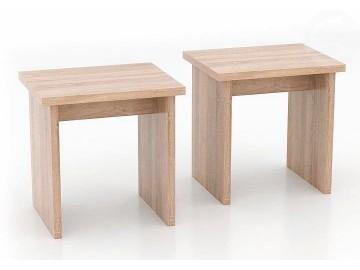 Lavice - taburet MUNCHEN set 2 ks bílá