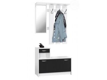 Předsíňová stěna RUDOLF bílá/černá