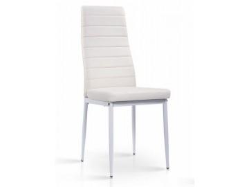 Jídelní čalouněná židle HRON-261 bílá/bílá