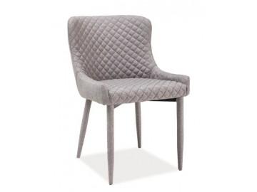 Jídelní čalouněná židle COLIN šedá