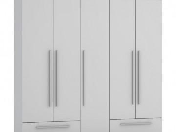 Šatní skříň 5D2S WALIA bílá