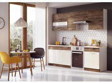 Kuchyně MIA 240 s WS80GRF2 akácie/vanilka lesk