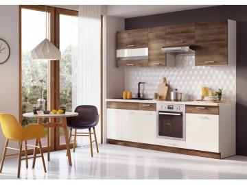 Kuchyně MIA 260 s D60S3 akácie/vanilka lesk