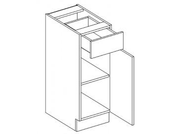 D30/S1 dolní skříňka MIA pravá akácie/vanilka