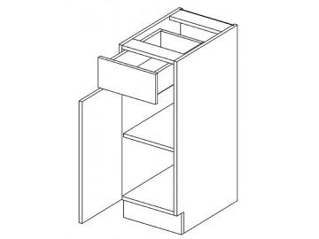 D30/S1 dolní skříňka MIA levá akácie/vanilka