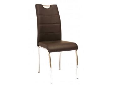Jídelní čalouněná židle H-822 hnědá