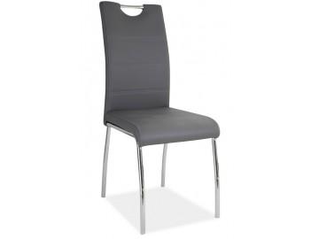 Jídelní čalouněná židle H-822 šedá