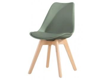Jídelní židle CROSS tmavě šedá/oliva
