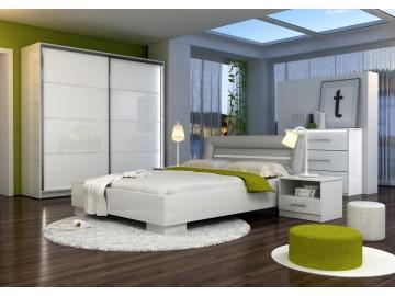Ložnice MALAGA (postel 160, skříň, komoda, 2 noční stolky)