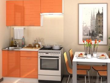Kuchyně TECHNO 160 oranžová metalic