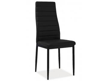 Jídelní čalouněná židle HRON-261 černá/černá