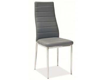 Jídelní čalouněná židle HRON-261 sv. šedá/chróm