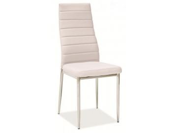 Jídelní čalouněná židle HRON-261 sv. béžová/chróm