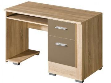 Psací stůl CARMELO C15 sonoma/bílá lesk