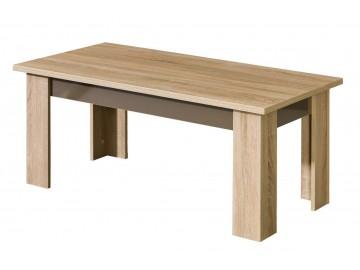 Konferenční stolek CARMELO C12 sonoma/bílá lesk