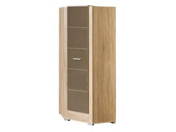 Rohová šatní skříň CARMELO C7 sonoma/bílá lesk