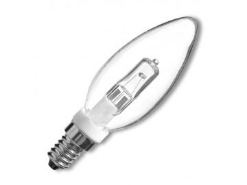 Ecolite  E14/G9/SV-28W Žárovka svíčka halog. čirá E14/G9/28W