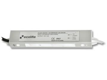 Ecolite  DX-WP-18W/IP67 El. trafo 230V-12V,1.5A,18W