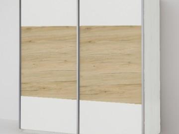 ECO 200 2D šatní skříň bílá/bílá/sonoma