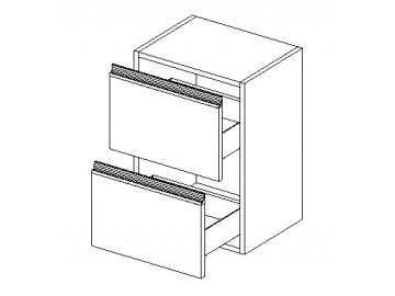 D40 S/2 skříňka MADERA výběr barev