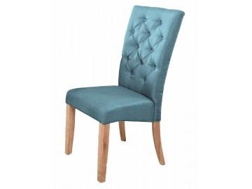 Jídelní čalouněná židle ATHENA modrá/dub natural