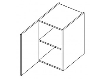 D40 d. skříňka levá ARUBA sonoma/bílá
