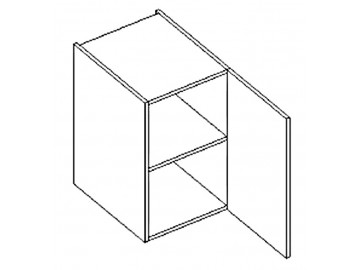 D40 d. skříňka pravá ARUBA sonoma/bílá