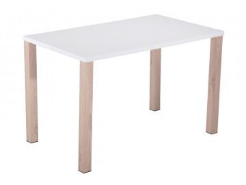 Jídelní stůl ALPINO-781 bílý lesk/dub sonoma