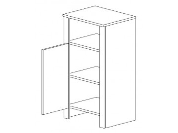 D45 d. skříňka TALIA duglaska/bílá levá