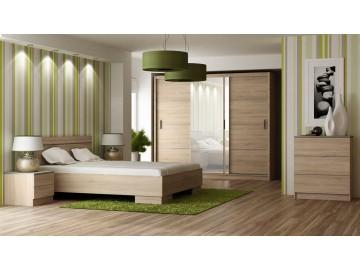 Ložnice VISTA sonoma (postel 160, skříň, komoda, 2 noční stolky)