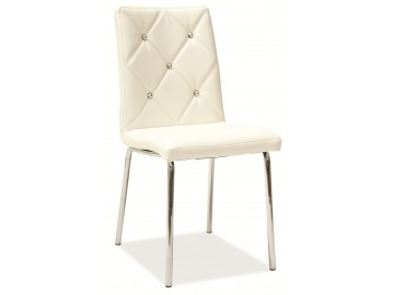 Jídelní čalouněná židle H-500 bílá