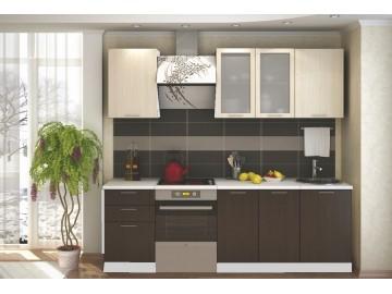 *Kuchyně VALERIA 180 bílá/wenge/dub bělený