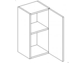 W30 h. skříňka CORAL bílá pravá