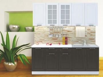Kuchyně PRAGA 200 bílá/wenge