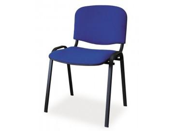 Čalouněná židle ISO černá/modrá