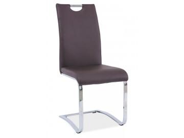 Jídelní čalouněná židle H-790 hnědá