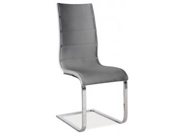 Jídelní čalouněná židle H-668 šedá/bílá