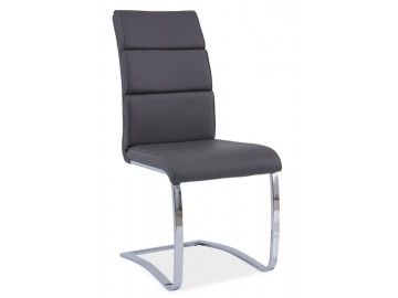 Jídelní čalouněná židle H-456 šedá