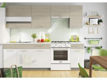 Kuchyně na míru MIA dub picard/bílá