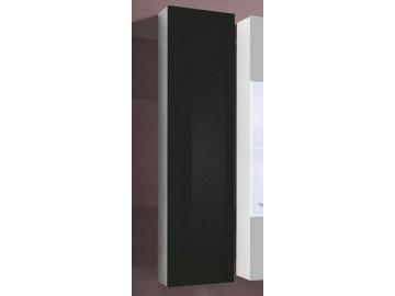Skříňka závěsná X-FINITY bílá/černý lesk