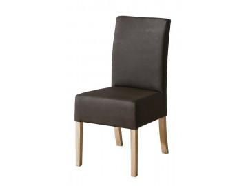 Jídelní čalouněná židle CARMELO C23 tmavě hnědá