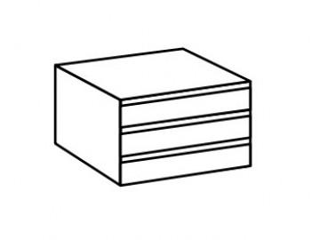 Vnitřní zásuvky ( 3 ks ) do skříně SUSAN šířka 74 cm