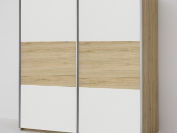ECO 200 2D šatní skříň bílá/sonoma